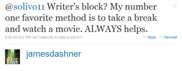 JamesDashner Tweet